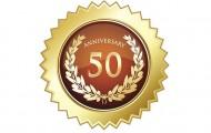 Fiftieth anniversary golden star shield.